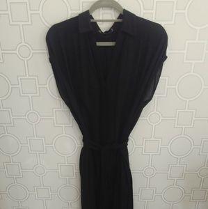 Zara Basic Collection Black Chiffon 3/4 Dress